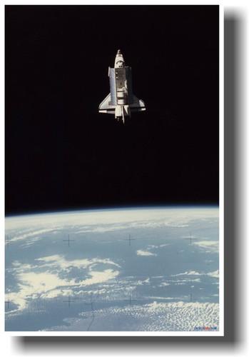 Image 1 & NASA Space Shuttle Columbia in Earth Orbit with Bay Doors Open ...