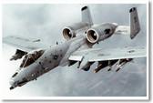 Airforce A-10 Thunderbolt II - aka Warthog Poster