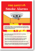 NEW Safety Cautionary POSTER - Fire Safety - Smoke Alarm
