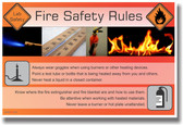 NEW HEALTH Safety Cautionary POSTER - Fire Safety Rules