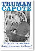Failure Is The Condiment - Truman Capote - NEW Famous American Author Classroom POSTER