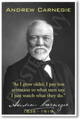 Andrew Carnegie - As I Grow Older - NEW Famous Person Poster