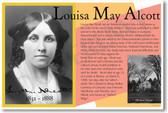 Louisa May Alcott - Female Woman American Author Novelist Concord Massachusetts - Little Women - PosterEnvy Language Arts English Poster