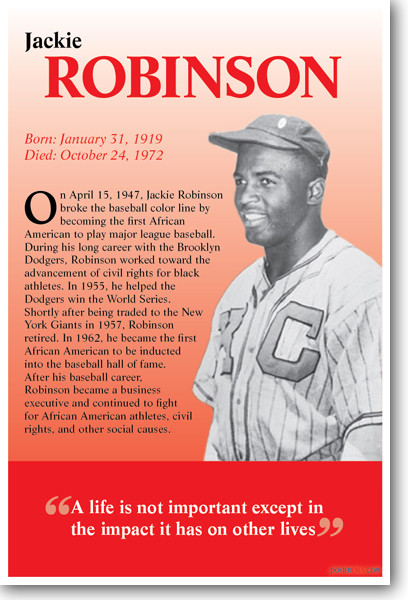 challenges in the life of the baseball player jackie robinson The powerful story of jackie robinson, the legendary baseball player who broke major league baseball's color barrier when he joined the roster of the brooklyn dodgers 42 stars harrison ford.