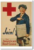 Join The American Red Cross - NEW Vintage Reprint Poster