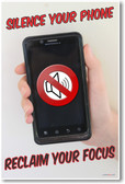 Smartphone - Silence Your Phone - Reclaim Your Focus - NEW Classroom Motivational PosterEnvy Poster