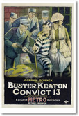 Buster Keaton in Convict 13 - NEW Vintage Reprint Poster