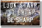 Look Sharp, Act Sharp, Be Sharp - NEW Classroom School Motivational PosterEnvy Poster