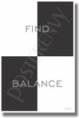 Find Balance - NEW Classroom Motivational Poster