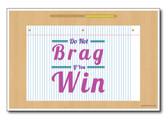 Do Not Brag - NEW Classroom Motivational Poster