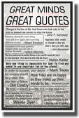 Great Minds Great Quotes - NEW Classroom Motivational Poster
