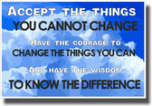 Accept The Things You Cannot Change - NEW Classroom Motivational Poster