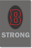 """B"" Strong - NEW Motivational Patriotic BOSTON MASSACHUSETTS USA POSTER"