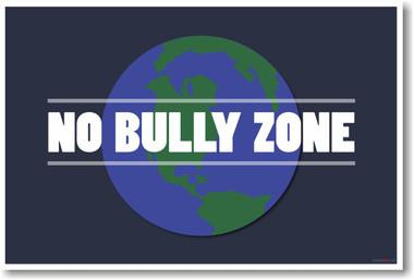 No Bully Zone - NEW Classroom Educational Anti-Bullying Motivation ...