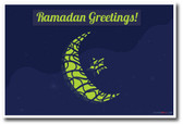 Ramadan Greetings - Moon & Star Holiday Classroom PosterEnvy Poster
