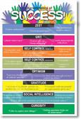 Characteristics of Success Classroom School Student Teacher Positive Motivational Grit Curiosity Poster (cm266)