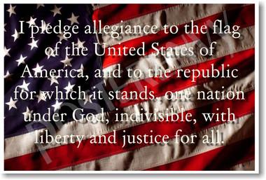 pledge of allegiance patriotic american flag classroom posterenvy poster cm180