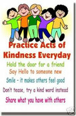 Practice Acts of Kindness Everyday! - Classroom Motivational Poster Print Gift