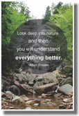 Look Deep Into Nature and Then You Will Understand Everything Better - Albert Einstein - NEW Classroom Ecology Motivational PosterEnvy Poster