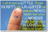 I Will Let Them Be Little - New Teacher Classroom Motivational Poster