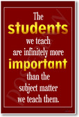 The Students We Teach