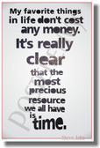 My Favorite Things In Life Don't Cost Any Money - Steve Jobs - NEW Classroom Motivational PosterEnvy Poster (cm1006)