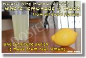 Lemonade - NEW Humorous Quote Poster