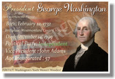 Presidential Series - U.S. President George Washington - New Social Studies Poster (fp335) PosterEnvy
