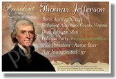 Presidential Series - U.S. President Thomas Jefferson - New Social Studies Poster (fp338) PosterEnvy