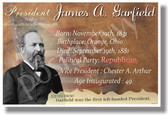 U.S. President James Garfield - New Social Studies Poster (fp345) PosterEnvy