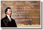 Presidential Series - U.S. President James Monroe - New Social Studies Poster (fp348) American History PosterEnvy
