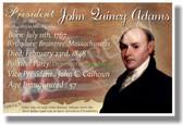 Presidential Series - U.S. President John Quincy Adams - New Social Studies Poster (fp349) American History PosterEnvy