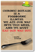 Chronic Disease Is a Foodborne Illness. We Ate Our Way Into This Mess & We Must Eat Our Way Out - Mark Hyman - NEW Healthy Foods and Nutrition Poster (he054) Doctor PosterEnvy Fork Vegetarian Vegan Plant Based GMO Sugar