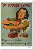 Of Course I Can - WPA American Vintage Reproduction Art WW2 Poster (vi569) PosterEnvy
