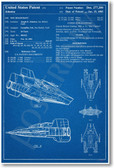 Star Wars - A-Wing Patent - NEW Famous Invention Patent Poster (fa133) Film
