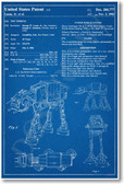 Star Wars - AT-AT Patent - NEW Famous Invention Patent Poster (fa137) PosterEnvy