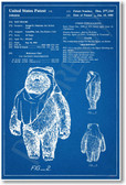 Star Wars - Wicket Ewok Patent - NEW Famous Invention Patent Poster (fa165)