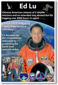 Astronaut Ed Lu - Chinese American Veteran of 2 NASA Space Shuttle Missions - NEW Space Poster (fp408) PosterEnvy