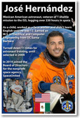 NASA Astronaut José Hernández - Mexican American in Space - NEW Space Poster (fp411) PosterEnvy