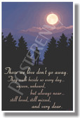 Those We Love Don't Go Away - Inspirational Poster (cm1036) posterenvy gift loved ones heaven moon trees clouds sky