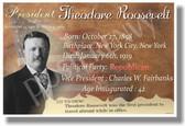 Presidential Series - U.S. President Theodore Roosevelt - New Social Studies Poster