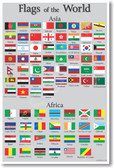 Flags Of The World (Asia/Africa) - NEW Social Studies Poster (ss160) PosterEnvy