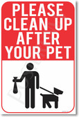 Please Clean Up After Your Pet - NEW Dog Doggy Bag Doggie Puppy POSTER (cm1065)
