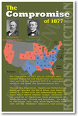 Reconstruction Compromise of 1877 U.S. Civil War History NEW POSTER rutherford hayes president south slavery election presidential electoral politics (ss164)