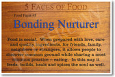 5 Faces of Food - Bonding Nurturer - NEW Healthy Foods and Nutrition Poster (he064)