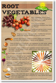 Healthy Foods Root Vegetables NEW Health Food Nutrition Poster healing cure  (he068)