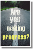 Are You Making Progress NEW Classroom Student School Motivational Poster Road of Life (cm1067)