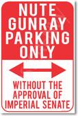 Nute Gunray Parking Only - NEW Humor Joke Poster (hu363)