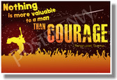 Nothing Is More Valuable To A Man Than Courage (red) - Roman Poet, Terence - New Motivational Poster (cm1116)