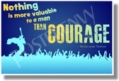 Nothing Is More Valuable To A Man Than Courage (blue) - Roman Poet, Terence - New Motivational Poster (cm1117)